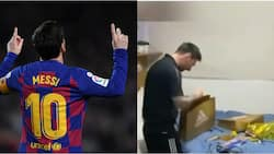 Heartwarming Moment Lionel Messi's Teammates Wake Him Up to Sing Happy Birthday