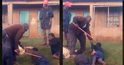 Nyamira: Village elders whip irresponsible parents engaging in illicit brew making