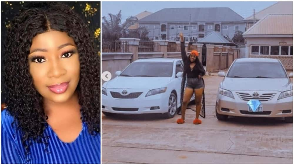A collage of the actress and her cars. Photo source: Instagram/Chizoba