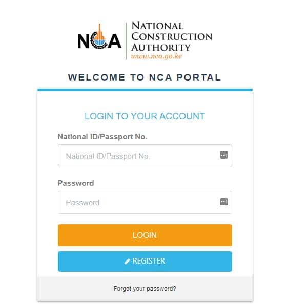 How to register as an NCA contractor