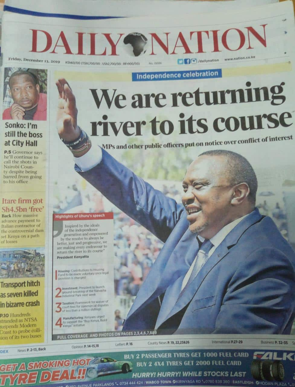 Newspaper review December 13