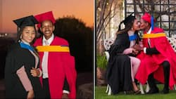 Proud Man Helps Wife Celebrate Graduation Days After Her Mum Died