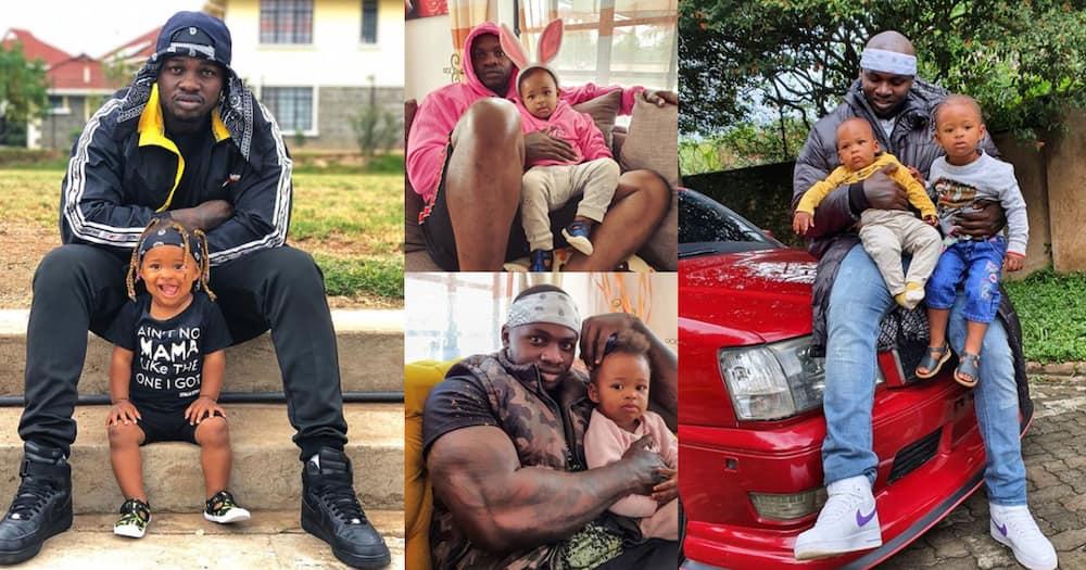 "Six Heartwarming Photos of Khaligraph Jones with His Two Kids: ""Proud Papa"""