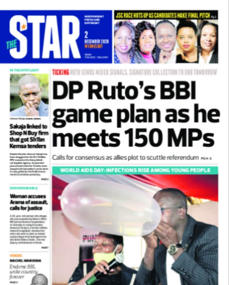 The Star newspaper for December 2. Photo: UGC.