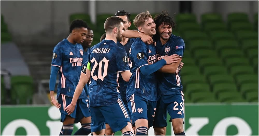 Europa League: Arsenal beat Dundalk 4-2 to east past group stage with 100% record