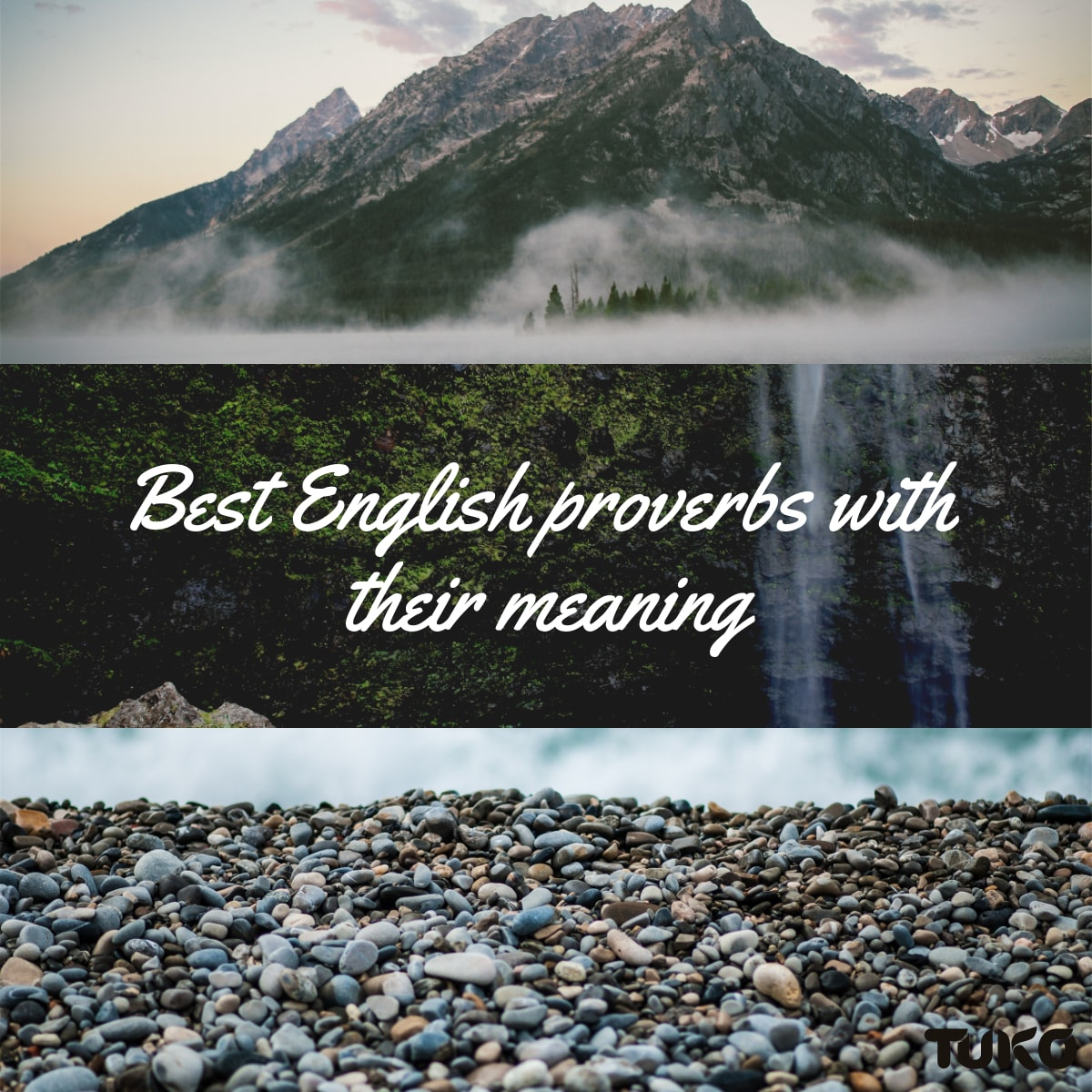 English proverbs with their meaning