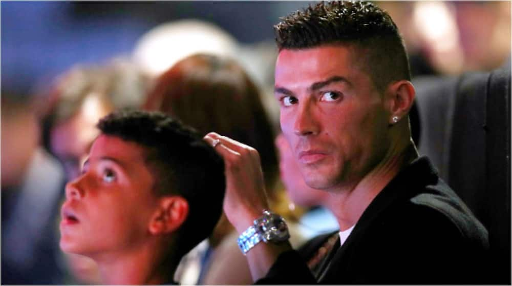 Cristiano Ronaldo and son Cristiano Jr. Photo Credit: Getty Images