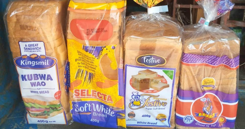Some of the locally manufactured brands of bread. Photo: @QueenGathoni.