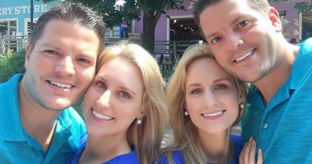 Twinning for life: Identical twin sisters who married twin brothers announce they're both pregnant