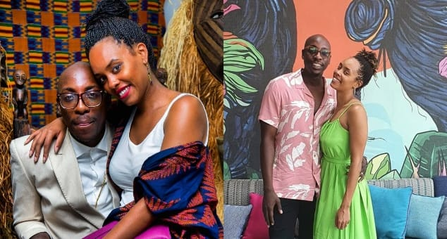 Bien Baraza's Wife Chiki shows off traditional dance moves to his father-in-law.