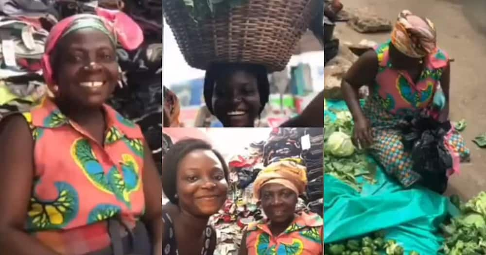 Bridget Ampong celebrated her mom who hustles in the market to pay her fees.