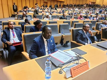 Raila attends first powerful AU summit since appointment in company of Uhuru