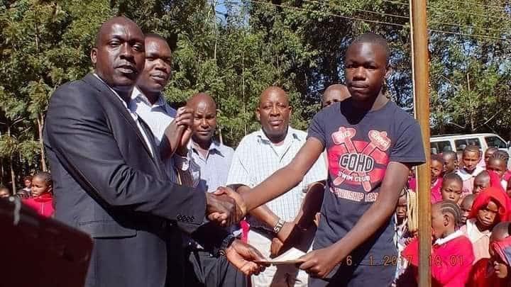 Kiambaa by-election candidate's hand in the education of Kenya's top KCSE student Simiyu Robinson Wanjala