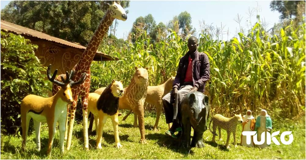 Vihiga Mason ventures into sculpturing after mysterious disease paralysed him for 7 years