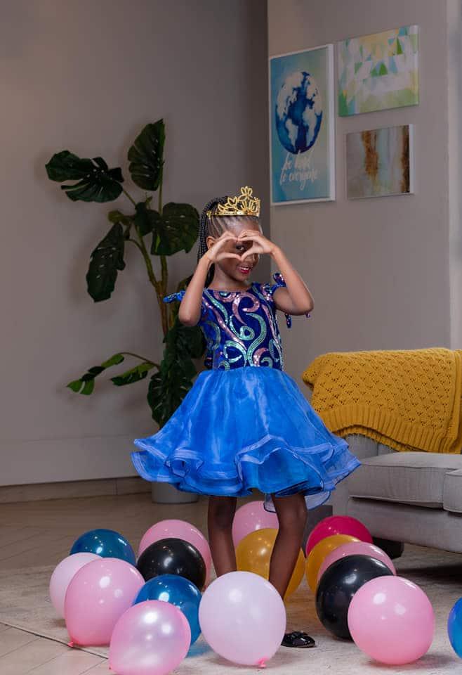 Photostory of Wahu, Lovely Daughter Nyakio As She Celebrates 8th Birthday