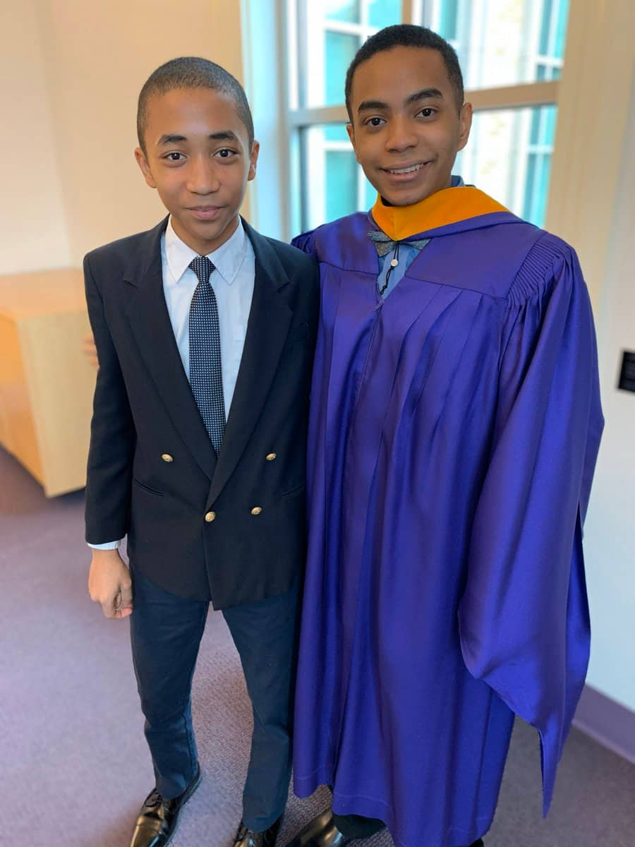 Brilliant young boy gets his Master's degree at just 17 years
