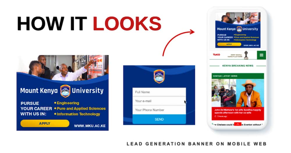 TUKO.co.ke's Successful Lead Generation Campaign with Mount Kenya University