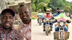 Moses Kuria na Murkomen wafika kwenye mkutano wa BBI kwa bodaboda