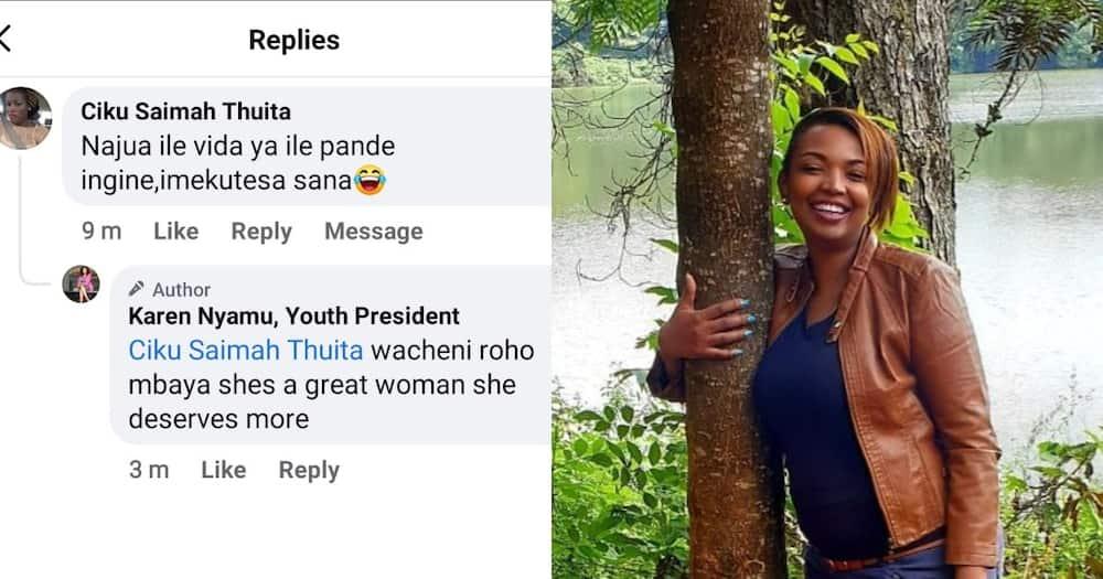 "Karen Nyamu Praises Samidoh's Wife: ""She Is a Great Woman, She Deserves More"""