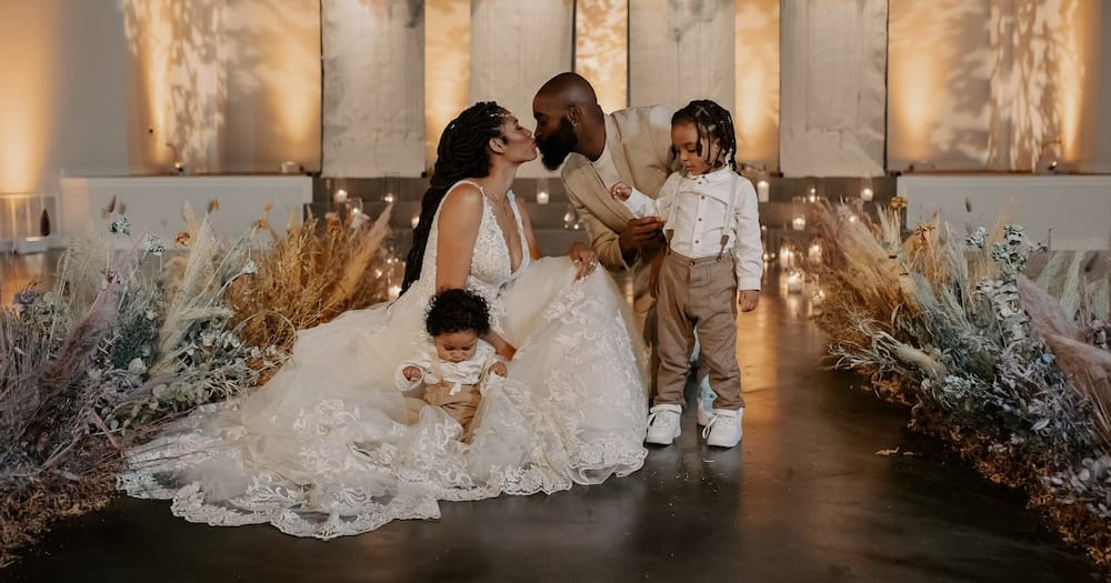 Cute Couple Renew Vows in Stunning Ceremony Attended by Their Kids Only