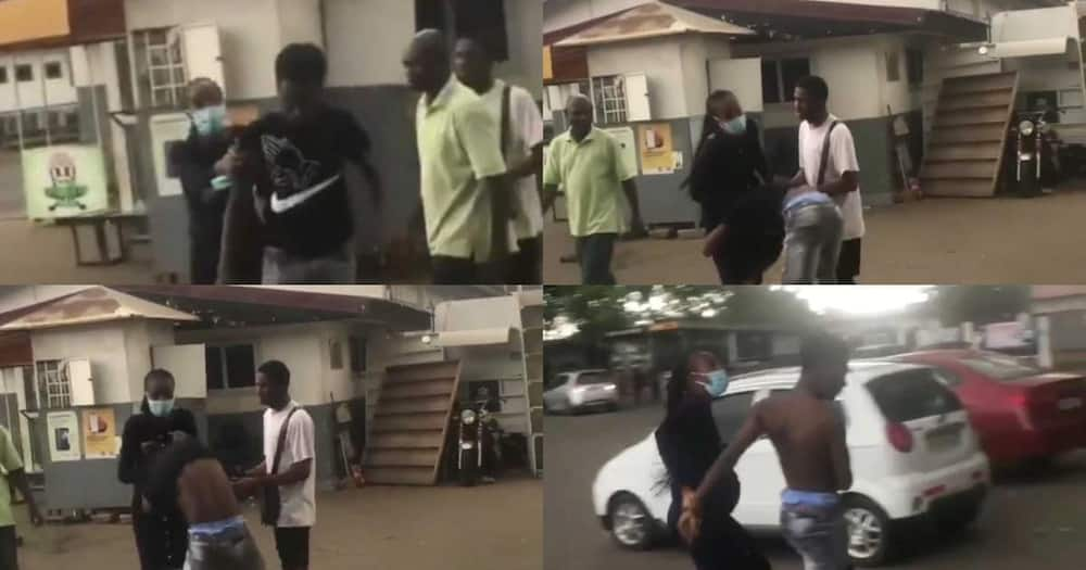 Pregnant Lady Embarrasses Legon Boyfriend On Campus After He Refused To Accept Pregnancy (Video)