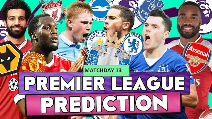 English Premier League predictions for matchday 13 ▷ Tuko co ke