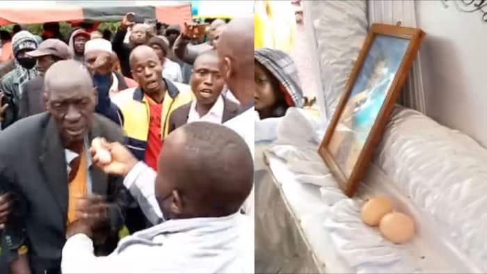 Kakamega: Funeral Ceremony Halted after Mourner is Busted Sneaking Eggs Inside Coffin