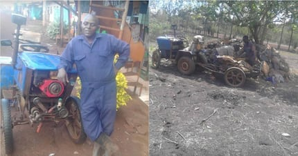 Murang'a school dropout, 38, makes own multipurpose tractor from scrape metal