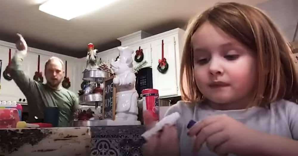 Dad Goofs Around In Daughter's Video Recording Unaware Its For Her Class Project