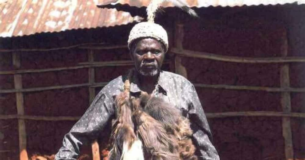 A Bukusu traditional elder: Photo: Bungoma Department of Gender Culture and Sports.