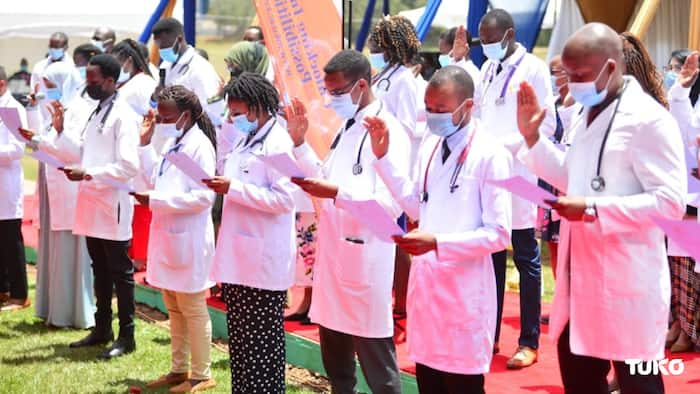 MKU's First-Ever Medicine Students Take Hippocratic Oath, Proceed to Internship