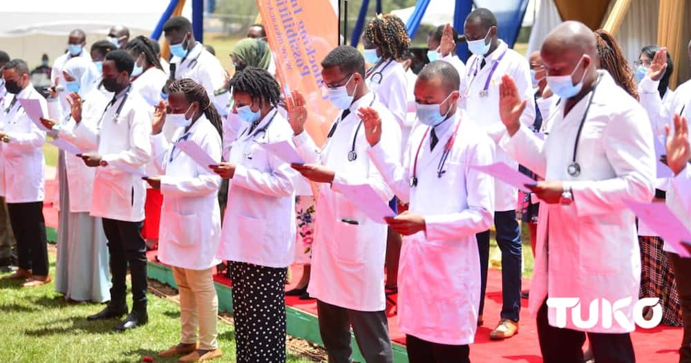 MKU's First Ever Medicine Students take Hippocratic Oath, proceed to internship