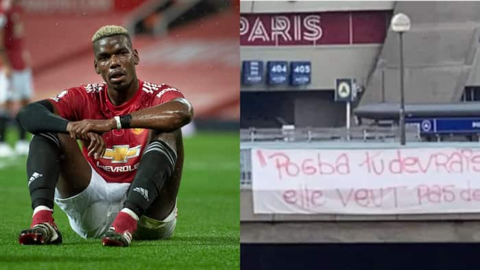 PSG Fans Make Feelings About Paul Pogba Known with Huge Banner Outside Stadium