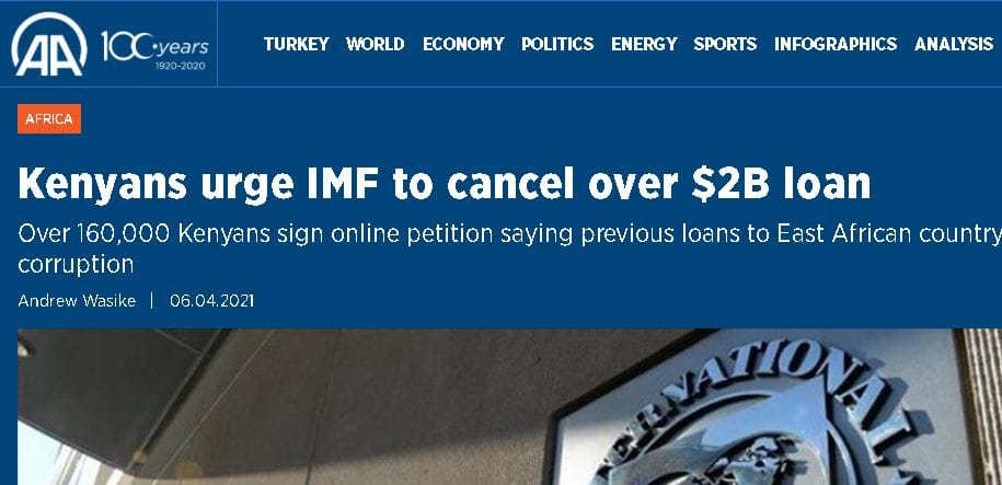 Kenyans' Petition to IMF to Stop Loaning the Country Grabs International Attention