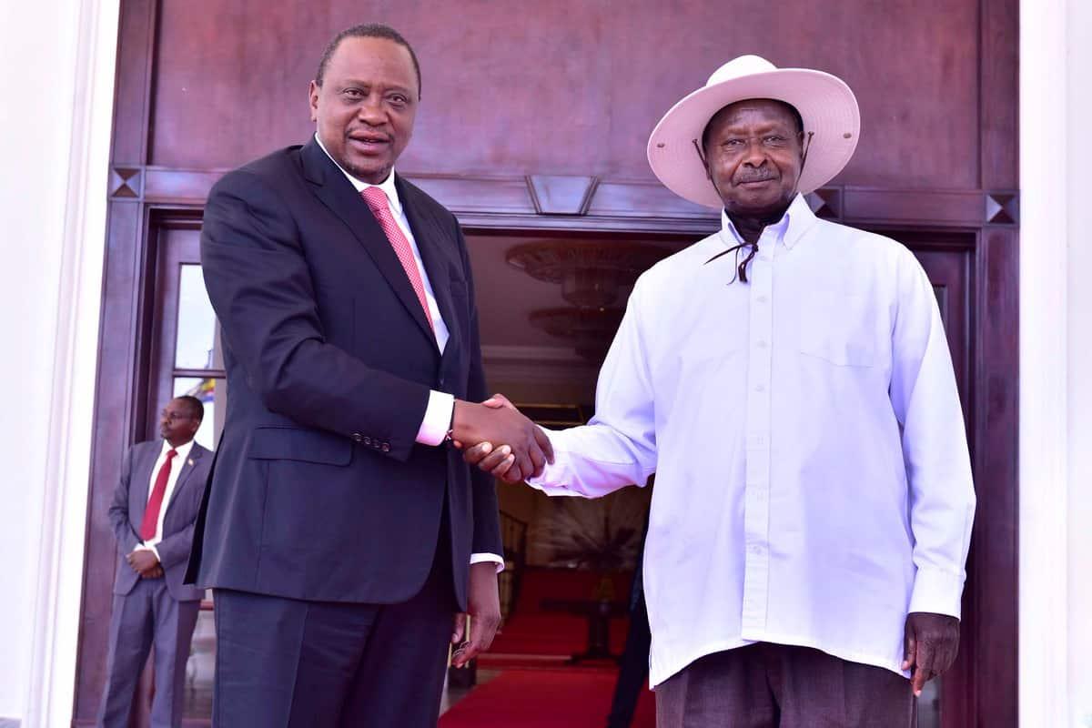 Uhuru silently flies to Uganda