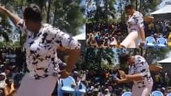 Aisha Jumwa excites Matungu residents while shaking her waist to Diamond's song during campaign