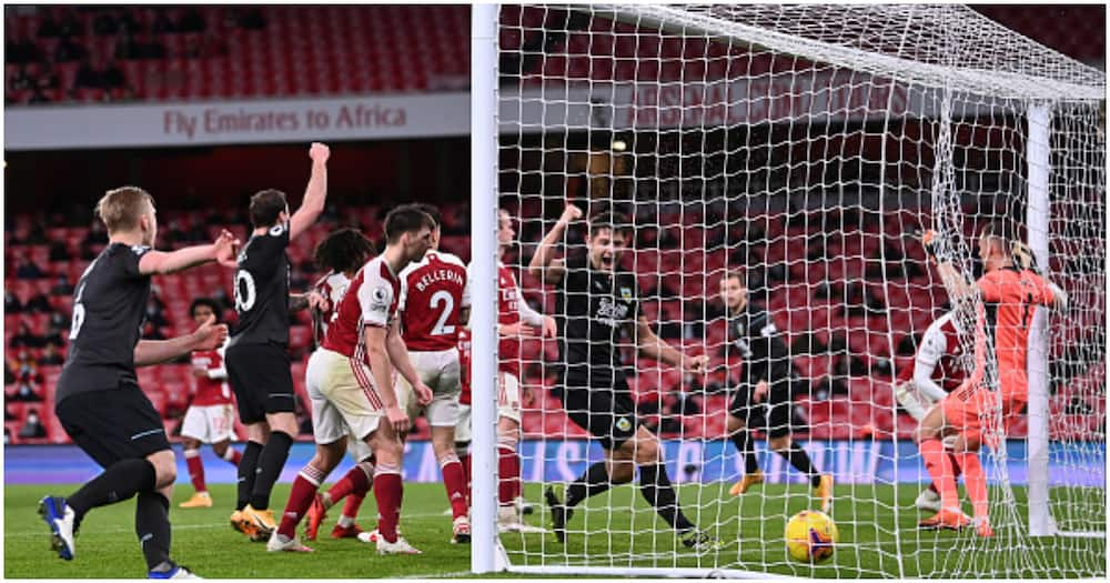Arsenal vs Burnley: Aubameyang's scores own goal as Clarets down Gunners