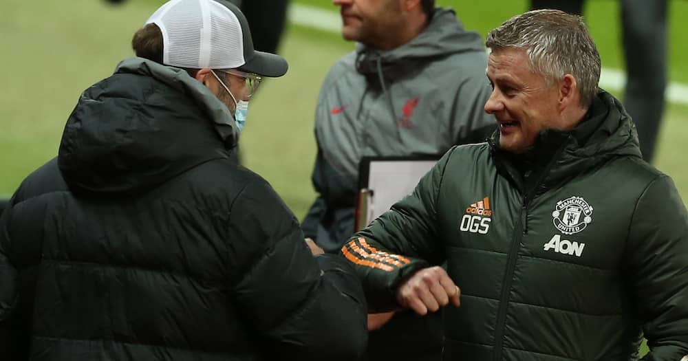 Klopp and Solskjaer during a past match
