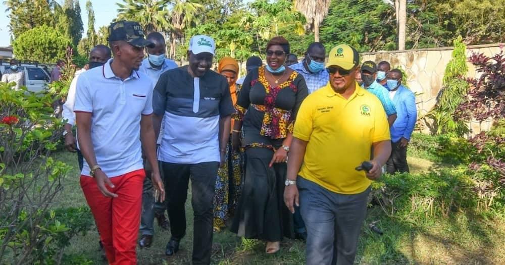 William Ruto bought sandals for MP Aisha Jumwa.