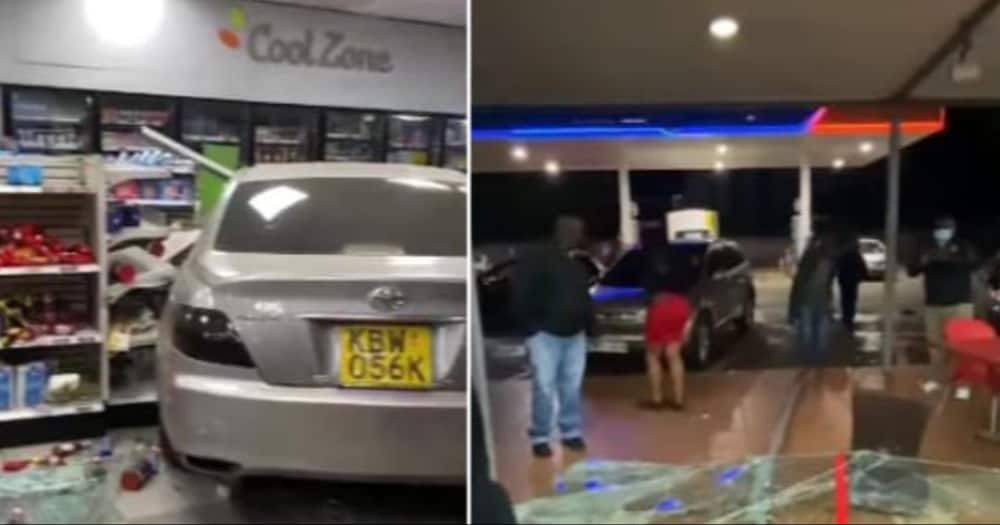 Confusion as Driver Crashes Car Into a Convenient Store on Waiyaki Way