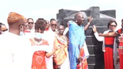 Over 100 Alumni of Moi Girls Isinya Visit Their Former Cook, Gift Him Goodies for His Service