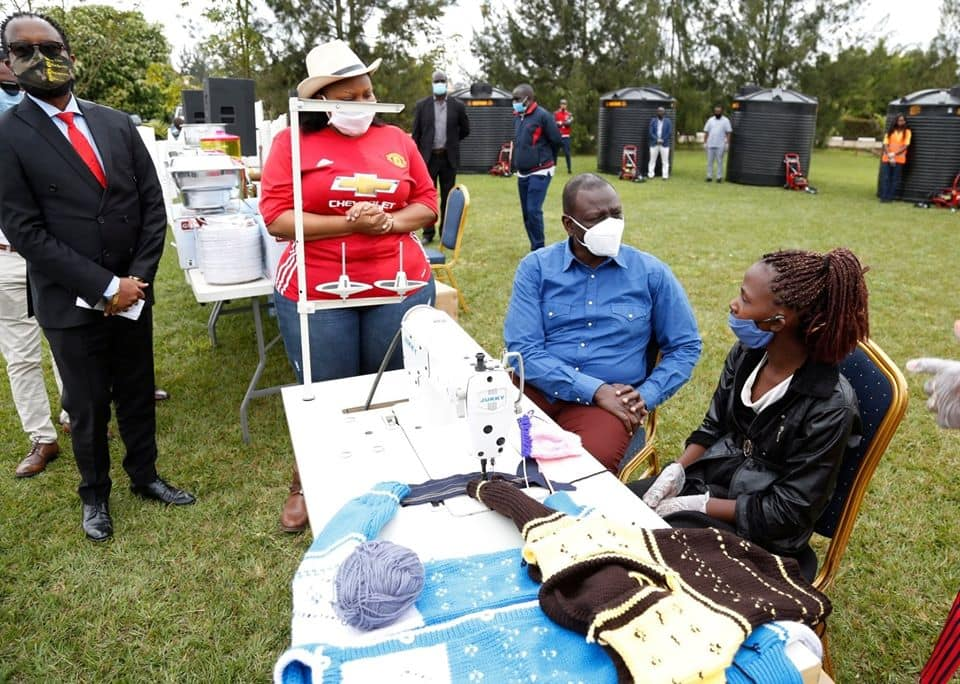 """William Ruto donates equipment worth millions to youth, women groups: """"The programme targets 5k entrepreneurs"""""""