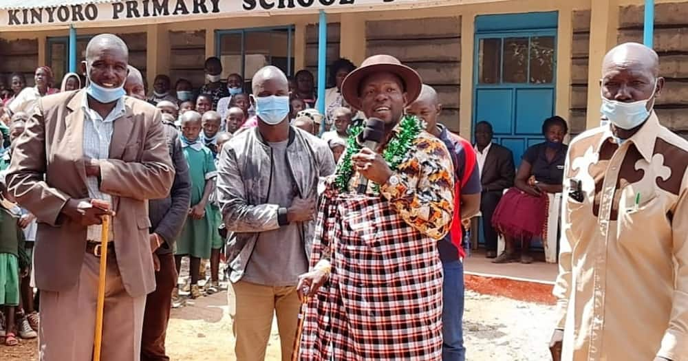 MP Amisi constructs first permanent classrooms at Kinyoro Primary since its inception in 1959