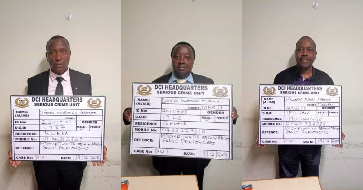 Three men arrested posing as detectives, nearly extorted Teachers Service Commission CEO