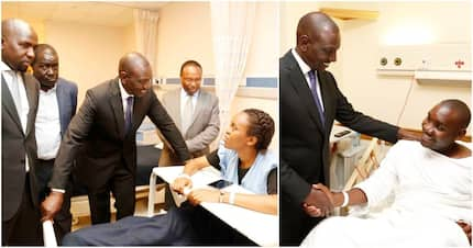 William Ruto, Murkomen visit survivors of 14 Riverside attack in Nairobi hospitals