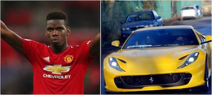 Paul Pogba arrives for training in brand new yellow Ferrari worth KSh 32 million