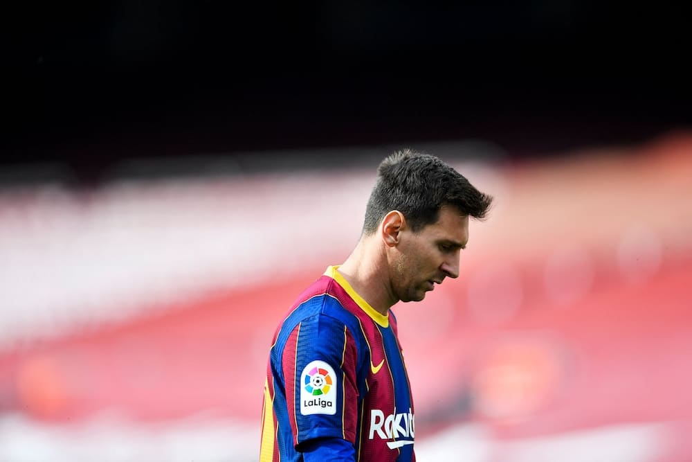 Lionel Messi during a past match for Barcelona. Photo by Pau BARRENA.