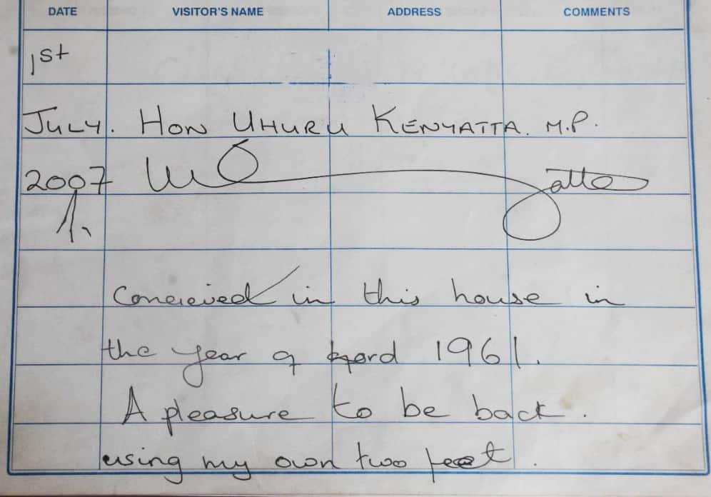 In 2013, six years after Uhuru Kenyatta signed the book, he became Kenya's fourth President, succeeding Mwai Kibaki.