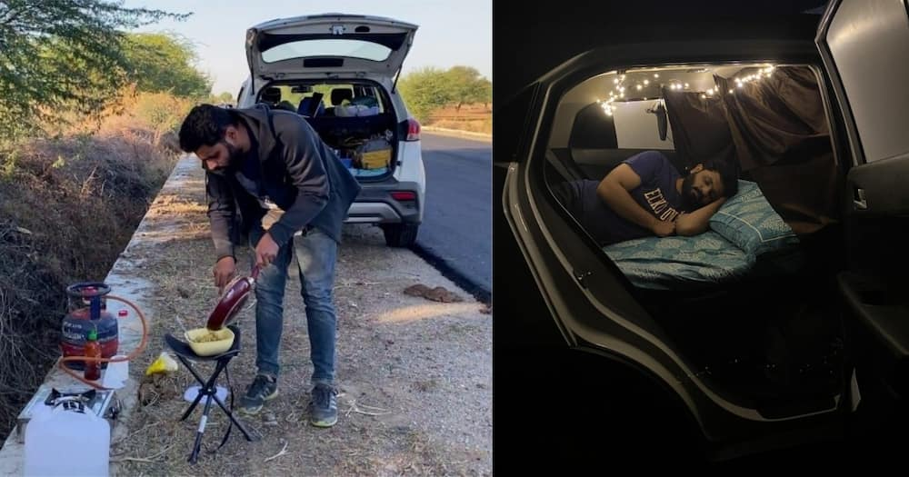 Roadtrip: Couple drives across India, living in car and showering at petrol stations