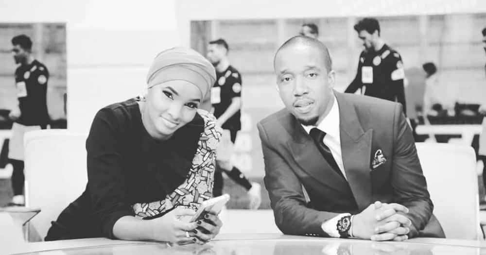 TV couple Lulu Hassan, Rashid Abdalla light up internet with matching outfits during BBI report launch